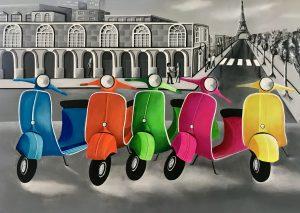 Les scooters de Paris - Safia Bollini