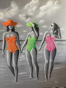 Baigneuses a la plage
